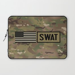 SWAT: Woodland Camouflage Laptop Sleeve