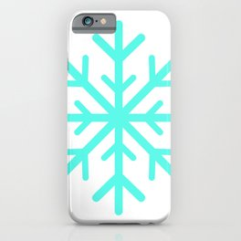 Snowflake (Turquoise & White) iPhone Case
