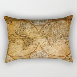Vintage Map Rectangular Pillow