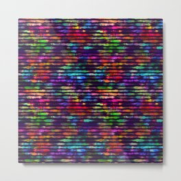 Rainbow watercolor brush stripes Metal Print