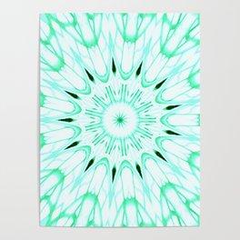 Mint Mandala Explosion Poster