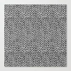 Hand Knit Grey Black Canvas Print