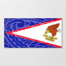 American Samoa Flag Canvas Print