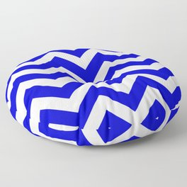 Medium blue - blue color - Zigzag Chevron Pattern Floor Pillow