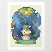 over the garden wall Art Prints featuring Over the Garden Wall by zaMp