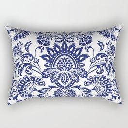 damask blue and white Rectangular Pillow