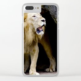 Lion Exiting the Cave Clear iPhone Case