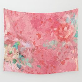 Painted Roses Wall Tapestry