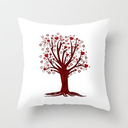 Heart Tree (2) Throw Pillow