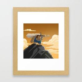 Time Travel Barbarian Wrestler Framed Art Print
