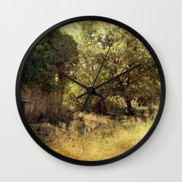 Vintage old forgotten town Wall Clock