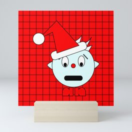 Funny Shocked Head Mini Art Print