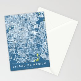 MEXICO Map Print | Blue More Colors, Review My Collections Stationery Cards