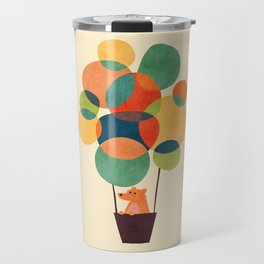Whimsical Hot Air Balloon Travel Mug