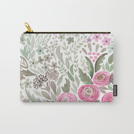 Watercolor .  Pink summer . Carry-All Pouch