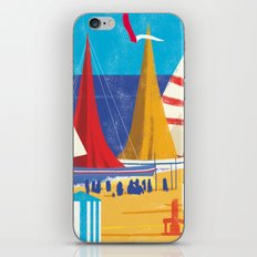 Sailboats on the Beach iPhone & iPod Skin