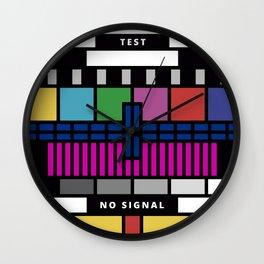 test card Wall Clock