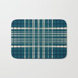Blue & Neutral Weave I Bath Mat