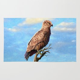 Brown Snake Eagle Rug