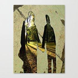 Dreams of sidewalk shadows Canvas Print
