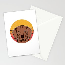Cute Vintage Vizsla Puppy Dog Owner Gift Stationery Cards