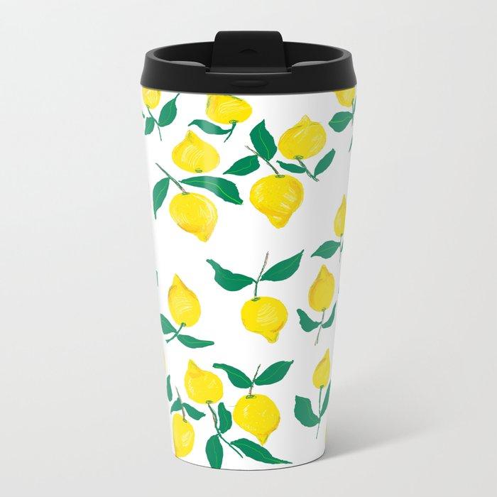Lemons design 2 Metal Travel Mug