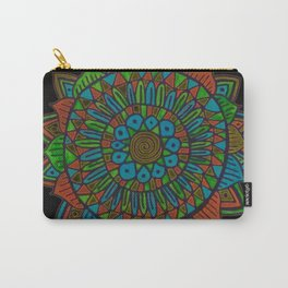 Glow Doodle Mandala Carry-All Pouch