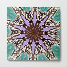 Mirror Lake Mixed Style Mandala Metal Print