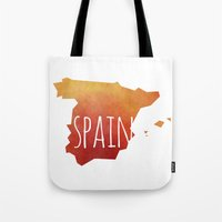 spain Tote Bags featuring Spain by Stephanie Wittenburg
