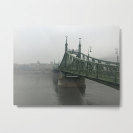 Winter Fog in Budapest Metal Print