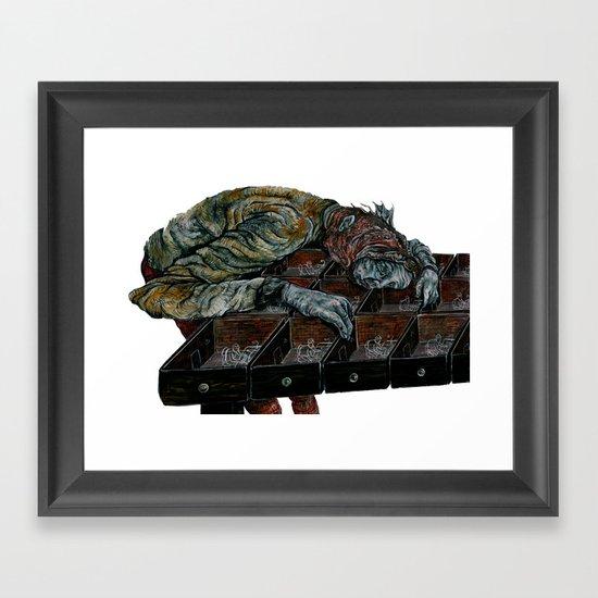 9 till 5 Framed Art Print
