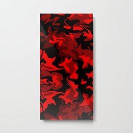 Red Hot Camo Metal Print