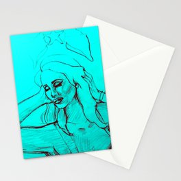 Lana Blue Stationery Cards