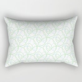 Swirls of Blue and Green Rectangular Pillow