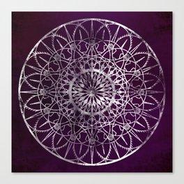 Fire Blossom - Violet Canvas Print
