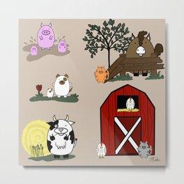 Animals on the farm Metal Print