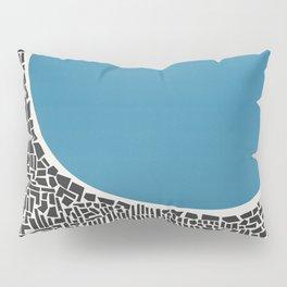 Abstract Blue Lake Pillow Sham