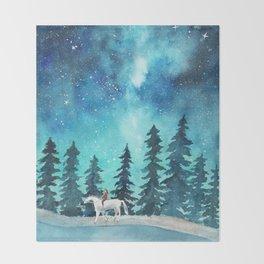 Take me to the stars Throw Blanket