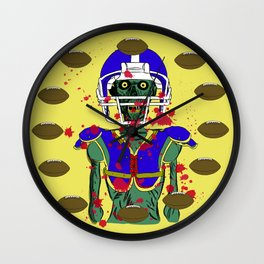 Zombie Football Player Wall Clock