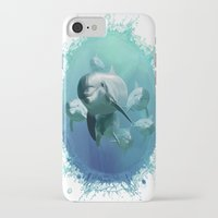 dolphins iPhone & iPod Cases featuring Dolphins by Lynne Hoad