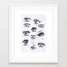 anime eyes Framed Art Print
