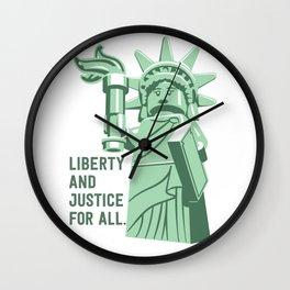 Liberty and Justice Wall Clock