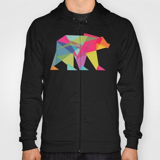 Fractal Bear - neon colorways Hoody