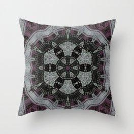 Dot Fourier Mandala 1 Throw Pillow
