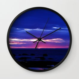 Dusk on the Sea Wall Clock