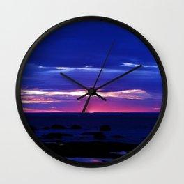 Dusk on the Sea Wall Clock