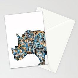 Rhino-no text Stationery Cards