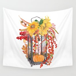 Fall Vignette Wall Tapestry