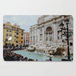 Trevi Fountain | Italian pastel colored houses Cutting Board