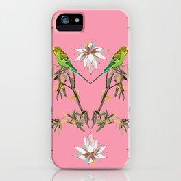 Budgerigar-1-Johnsonia-Pink iPhone Case